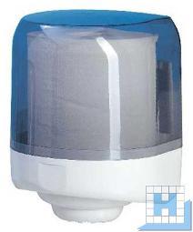 Rollenhandtuchspender weiß/transparent, Innennabrollung, Kunststoff H335xB256xT275mm