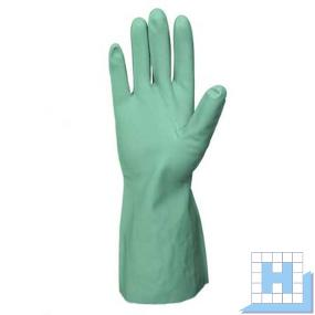 Chemikalienschutzhandschuh Nitril 33cm, Gr 9 grün (12Paar/Pack)