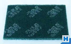 3M Nylon-Handpad, grün, 224x158x11mm (86)