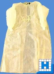 BeeSana PP-Kittel 23g, gelb 120x140cm (10 Stück/Pack)