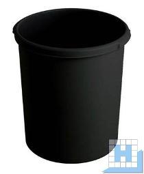 Kunststoff Papierkorb 30 L, Farbe: schwarz, H 410 mm, D 375 mm