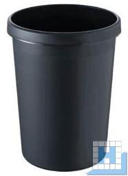 Helit Papierkorb 18L schwarz mit Griffrand, H: 320mm, Ø: 310mm