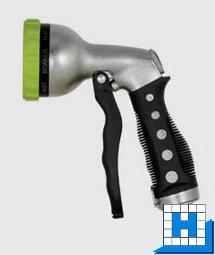 Pistole mit 7-facher Strahlverstellung, Stecknippel 16mm(Universal)