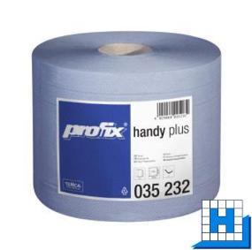 Putztuchrolle blau, profix handy Plus 22x36cm, 500 Blt/Rll, 2 Rll/Pck.Tissue, PP-Prägung