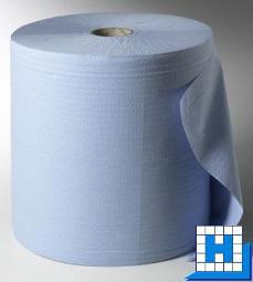 Putztuch Rolle, 3lg, blau, 1000 Abrisse, 36x38 cm, (VE 1 Rolle)