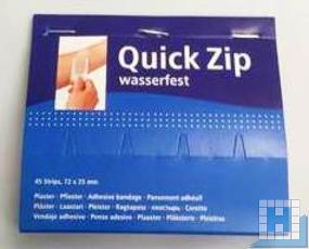 Pflasterstrips Nachfüllpack für Quick Zip, 45 Stk/Pack, wasserfest