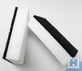 Radier- und Scheuerschwamm schwarz/weiß 120x70x29mm, 10er-Packung