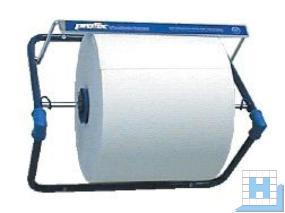 profix Rollenhalter zur Wandmontage, Metall blau lackiert, H470xB510xT400mm