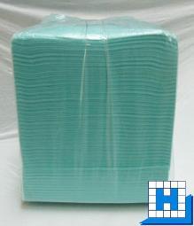Vlies-Tuch, grün 38x40cm 10 kg, 135gr/m² (ca.500Stck/Sack)