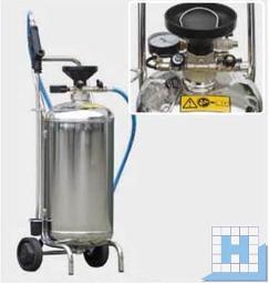 Schaumgerät mit Druckbehälter 24L, Edelstahl, 10m Schlauch und 60cm Sprühlanze mit Düse, Füllstandsanzeige
