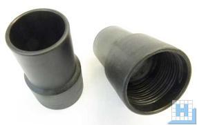 Schlauch-Muffe iØ38/A45, Gewinde 38mm, schwarz