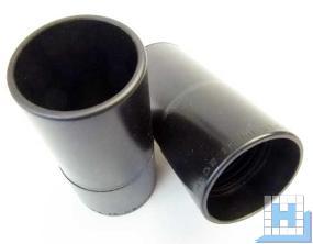 Schlauch-Muffe iØ45/AØ52mm, schwarz Gewinde 38mm