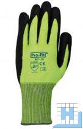 Schnittschutzhandschuh Level 5, Gr 10 Nitril neongrün/schwarz (12Paar/Pack)