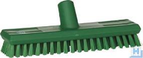 Schrubber 270 mm grün, mit Wasserdurchlauf