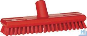 Schrubber 270 mm rot, mit Wasserdurchlauf