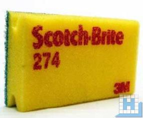 3M Scotch-Brite™ Reinigungsschwamm 274 gelb/grün 95x150mm