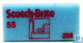 3M Scotch-Brite™ Reinigungsschwamm 55 blau/rot 70x130mm