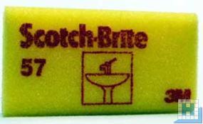 3M Scotch-Brite™ Reinigungsschwamm 57 gelb/rot 70x130mm
