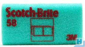 3M Scotch-Brite™ Reinigungsschwamm 58 grün/rot 70x130mm