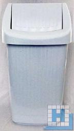 Schwingdeckel Abfallbehälter 25L granit 30x30x56