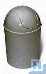Schwingdeckeleimer rund Kunststoff weiß, 7L