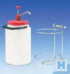 Edelstahl-Wandhalterung inkl. Pumpe für 3 L Behälter