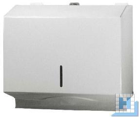 Handtuchspender Metall, weiß, H203, B.253, T120
