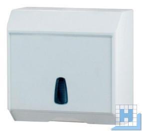 Profix retro M, Falt-Handtuchspender Kunststoff weiß H/B/T:H290xT145xB300mm, mit Sichtfenster