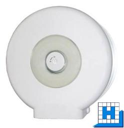 Racon basic Jumbo-Toilettenpapier-Spender Kunststoff weiß H/B/T:290/290/125mm