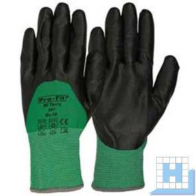 NI Terry Winterhandschuh 3/4 Beschichtung Gr. 10, grün/Nitril schwarz (12Paar/Pack)