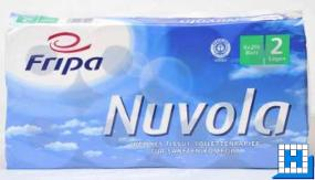 Toilettenpapier Nuvola, 2lg, hochweiß, 10x12cm, 250 Blatt, 64Rll/Pack