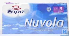 Toilettenpapier Nuvola, 3lg. hochweiß, 10x12cm, 250 Blatt, 48Rll/Pack