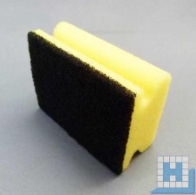 Pad-Schwamm Vlies medium, lose (Topfreiniger) gelb/schwarz 95x70x43mm