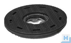 Domtreibteller (Sorma A17), 405/128mm, Vollhaftbelag schwarz mit Moosgummi