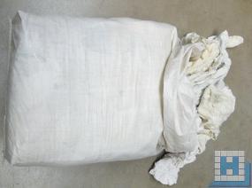 Weiße Trikotlappen 10kg, Standard Baumwolltrikot