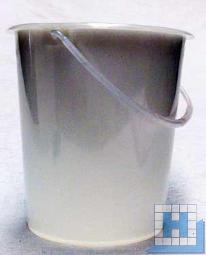 Verpackungseimer, 2,5 L, natur, Ø17,5cm, H=16,5cm, Kunststoffbügel
