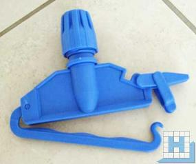 Schnellverschluss-Halter blau, für Nasswischmop (Waphalter)