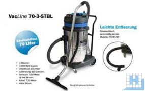 Nass-/ Trockensauger 70-3-STBL 230V / 3 x 1000W, 70L Edelstahlbehälter
