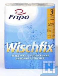 Haushaltsrolle, Wischfix, 3lg. 2x51 Blatt, 26x24cm, 32 R./Pck., 100% Zellstoff