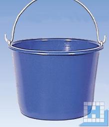 Eimer 12 l blau, schwere Qualität, verzinkte Metallösenbügel 7mm