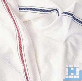 Gerstenkorn-Handtuch weiß 45x90 cm, 10 Stck/VE