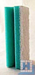 Vliesschwamm, grün/Pad weiß, 150x70x45mm, mit Griffleiste